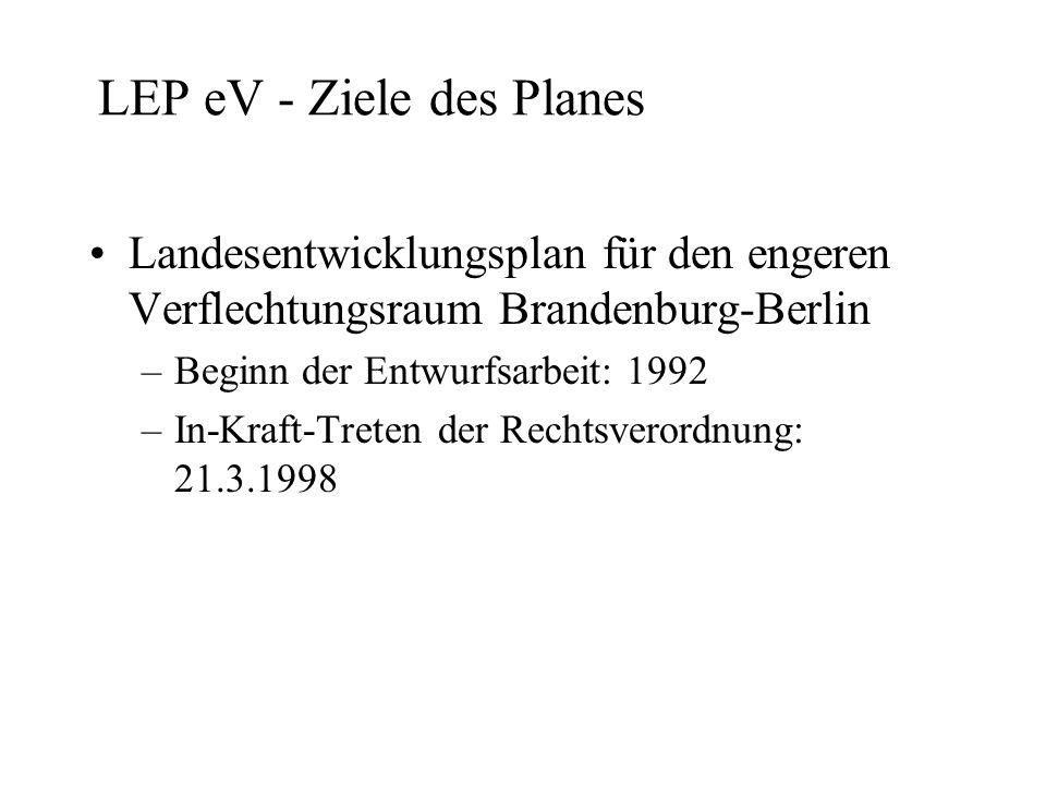 LEP eV - Ziele des Planes