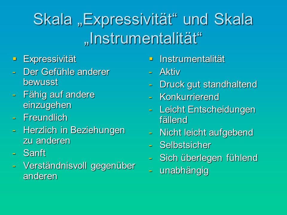 "Skala ""Expressivität und Skala ""Instrumentalität"