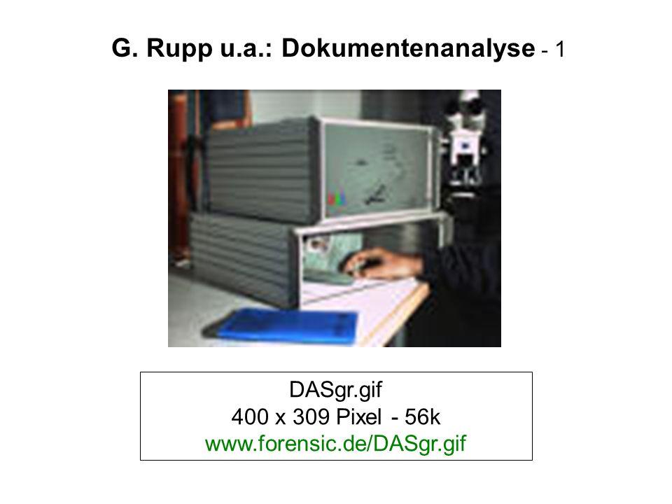 G. Rupp u.a.: Dokumentenanalyse - 1
