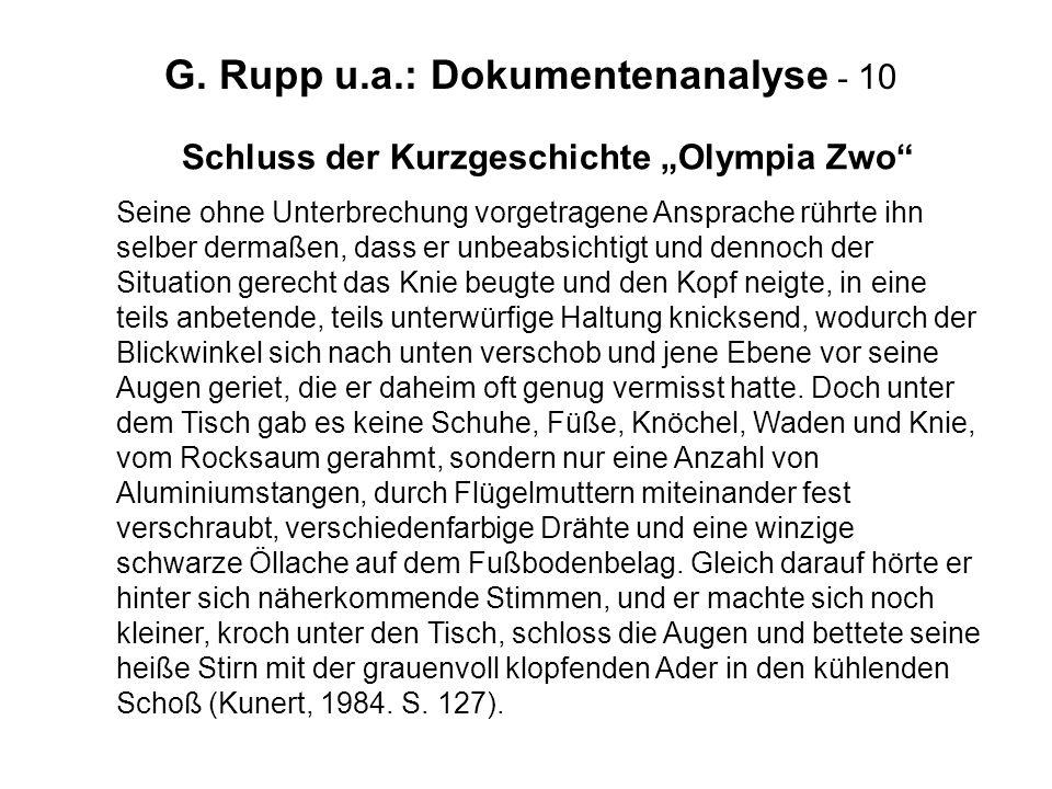 """Schluss der Kurzgeschichte """"Olympia Zwo"""