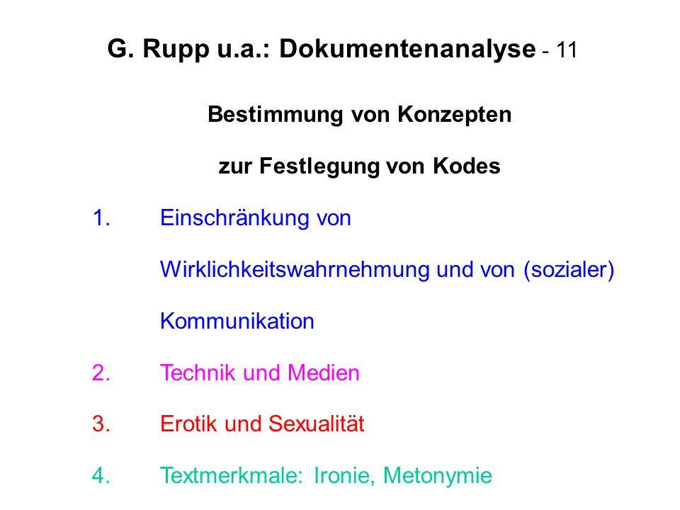 G. Rupp u.a.: Dokumentenanalyse - 11