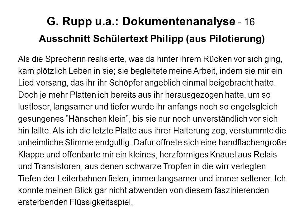 Ausschnitt Schülertext Philipp (aus Pilotierung)