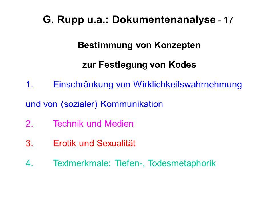 G. Rupp u.a.: Dokumentenanalyse - 17
