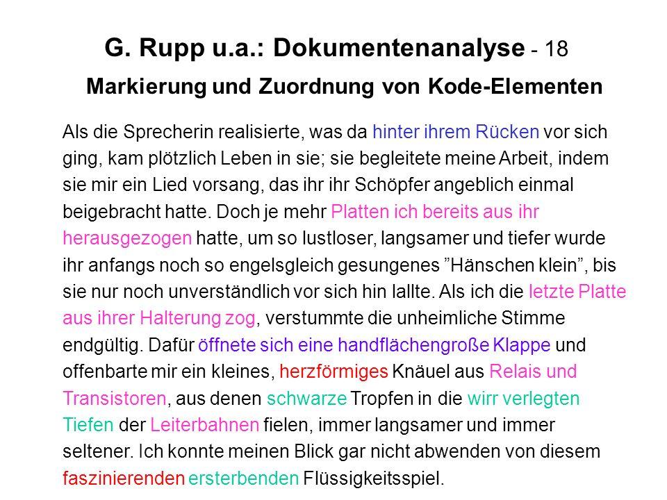 G. Rupp u.a.: Dokumentenanalyse - 18