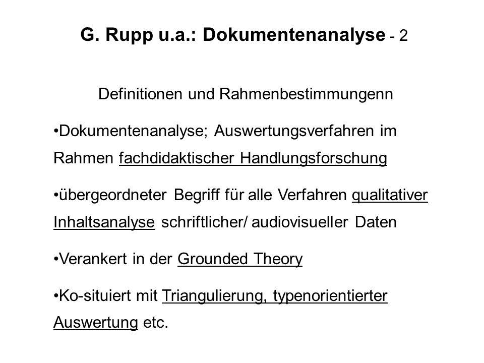 G. Rupp u.a.: Dokumentenanalyse - 2
