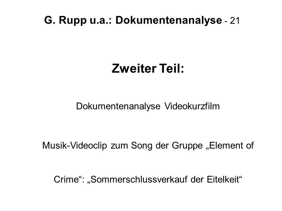 Zweiter Teil: Dokumentenanalyse Videokurzfilm
