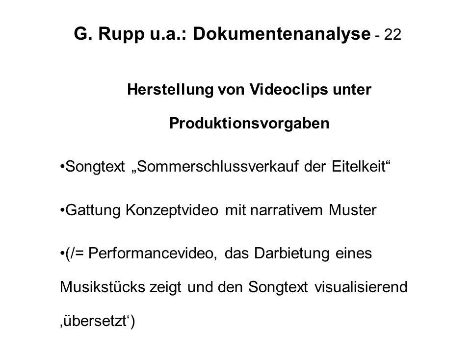 G. Rupp u.a.: Dokumentenanalyse - 22