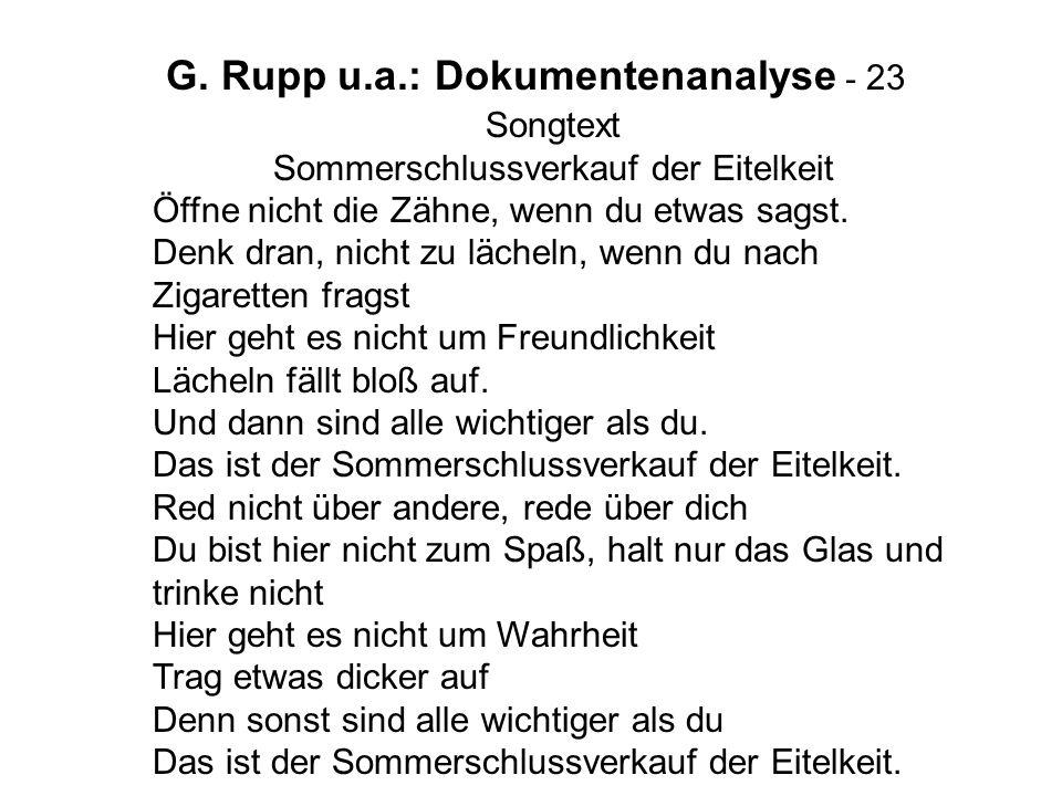 G. Rupp u.a.: Dokumentenanalyse - 23
