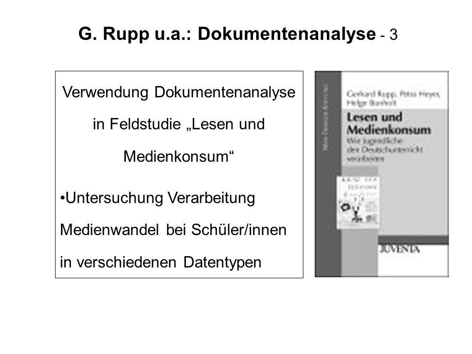 G. Rupp u.a.: Dokumentenanalyse - 3
