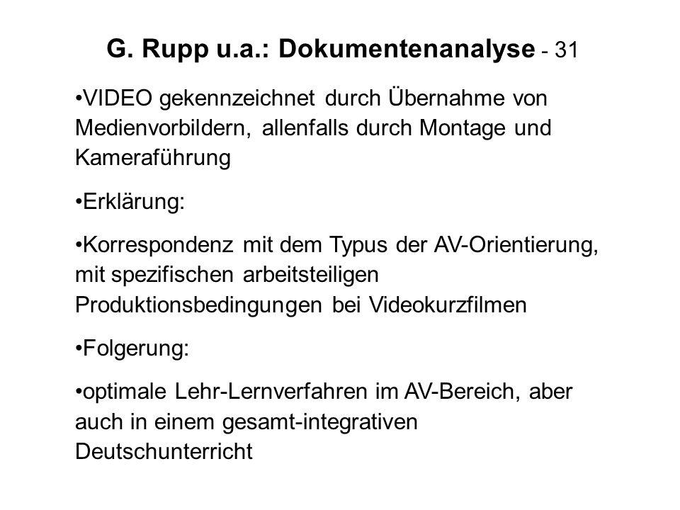 G. Rupp u.a.: Dokumentenanalyse - 31