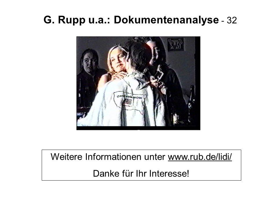 G. Rupp u.a.: Dokumentenanalyse - 32