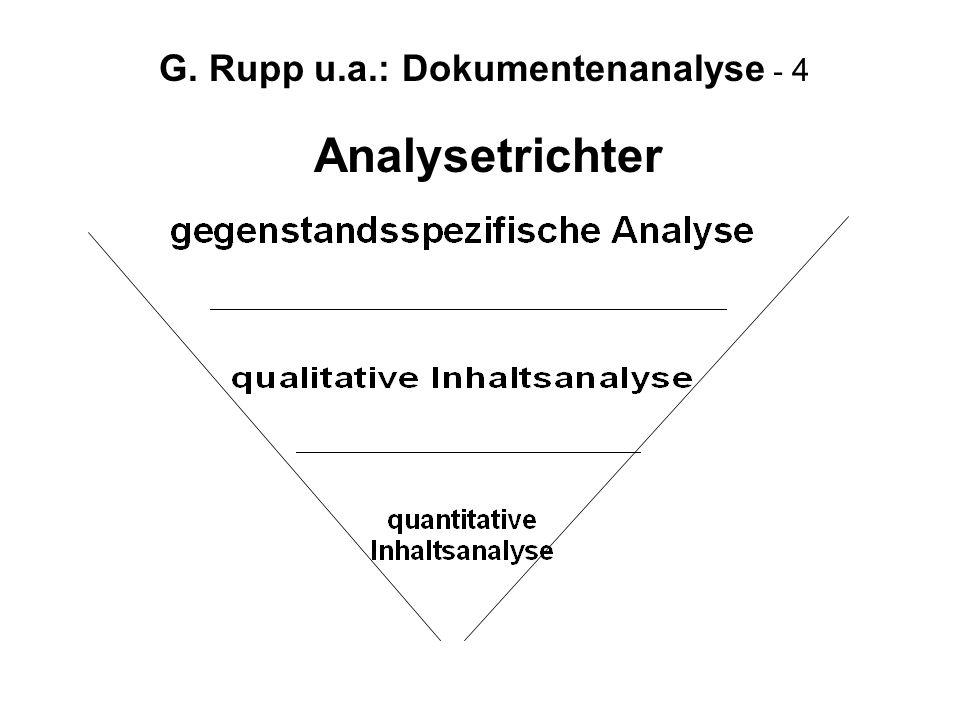 G. Rupp u.a.: Dokumentenanalyse - 4