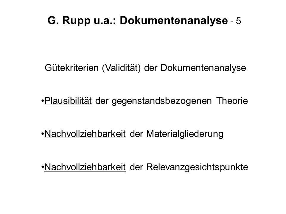 G. Rupp u.a.: Dokumentenanalyse - 5