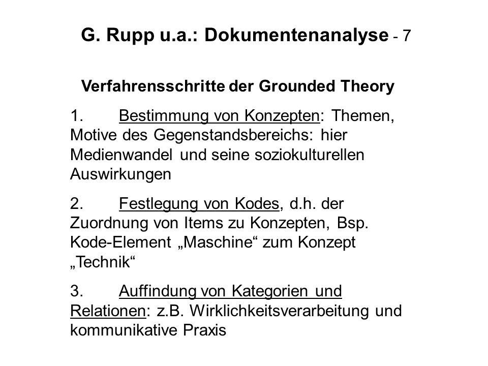 G. Rupp u.a.: Dokumentenanalyse - 7
