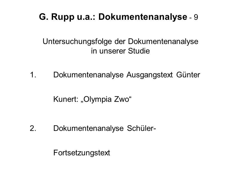 G. Rupp u.a.: Dokumentenanalyse - 9