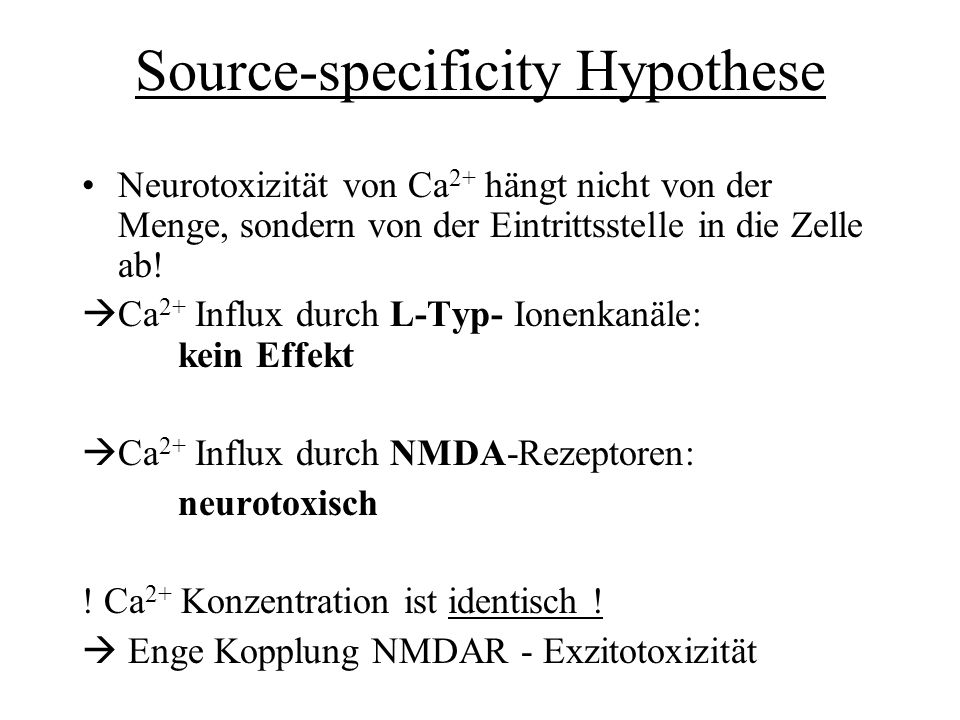 Source-specificity Hypothese