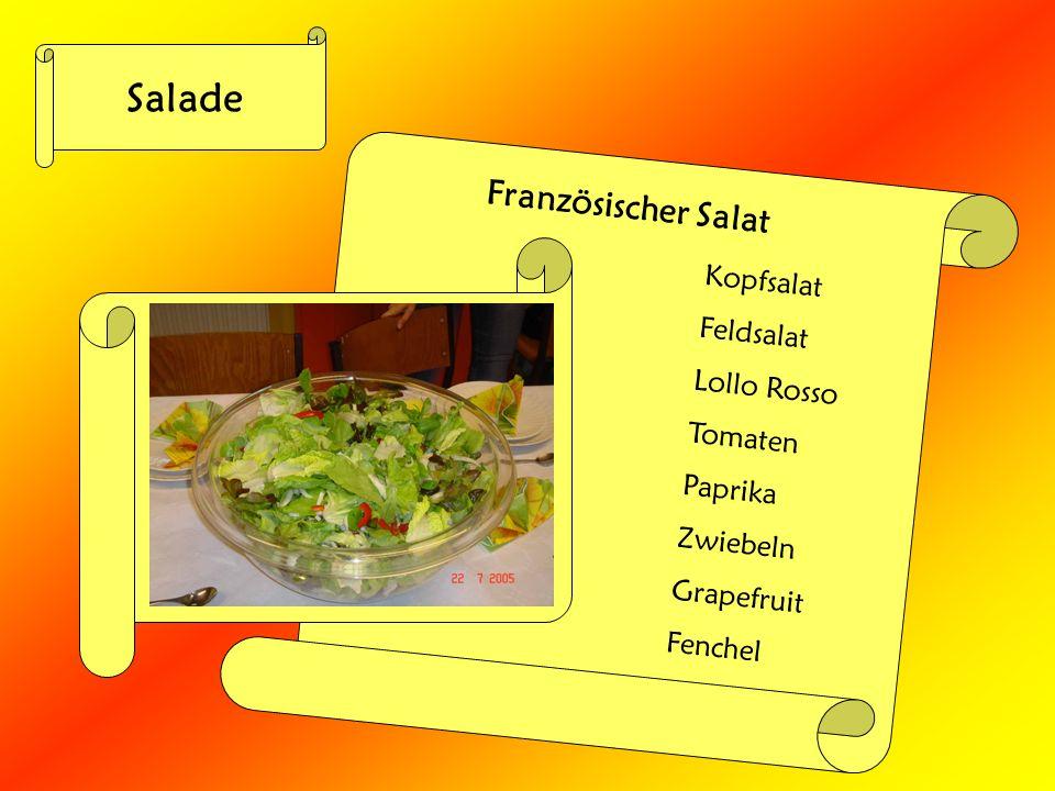 Salade Französischer Salat Kopfsalat Feldsalat Lollo Rosso Tomaten