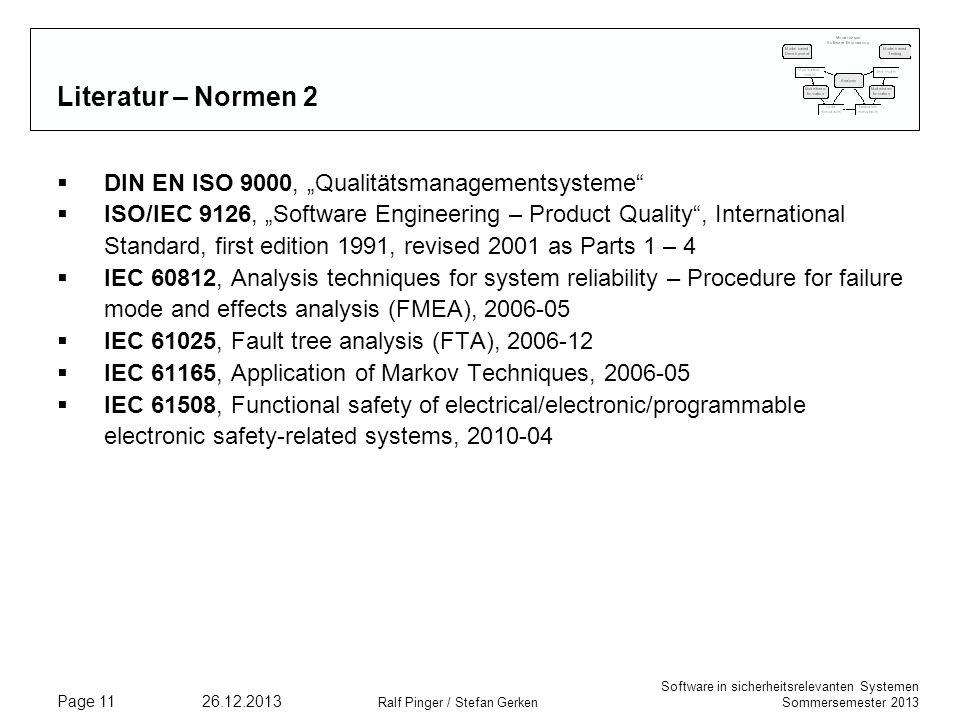 "Literatur – Normen 2 DIN EN ISO 9000, ""Qualitätsmanagementsysteme"