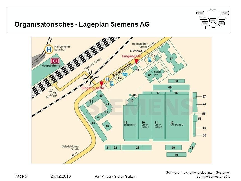 Organisatorisches - Lageplan Siemens AG
