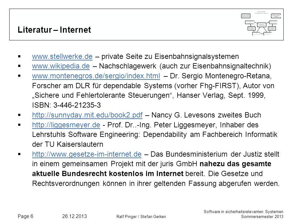 Literatur – Internet www.stellwerke.de – private Seite zu Eisenbahnsignalsystemen.