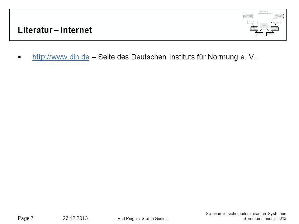 Literatur – Internet http://www.din.de – Seite des Deutschen Instituts für Normung e. V.. 25.03.2017.