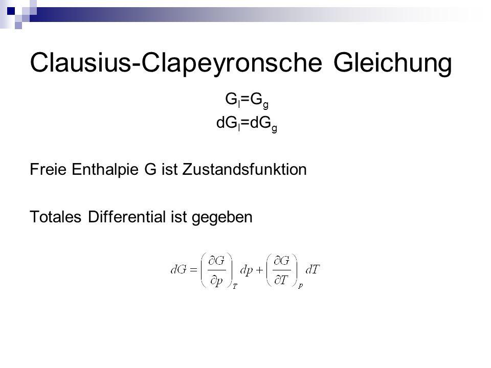 Clausius-Clapeyronsche Gleichung