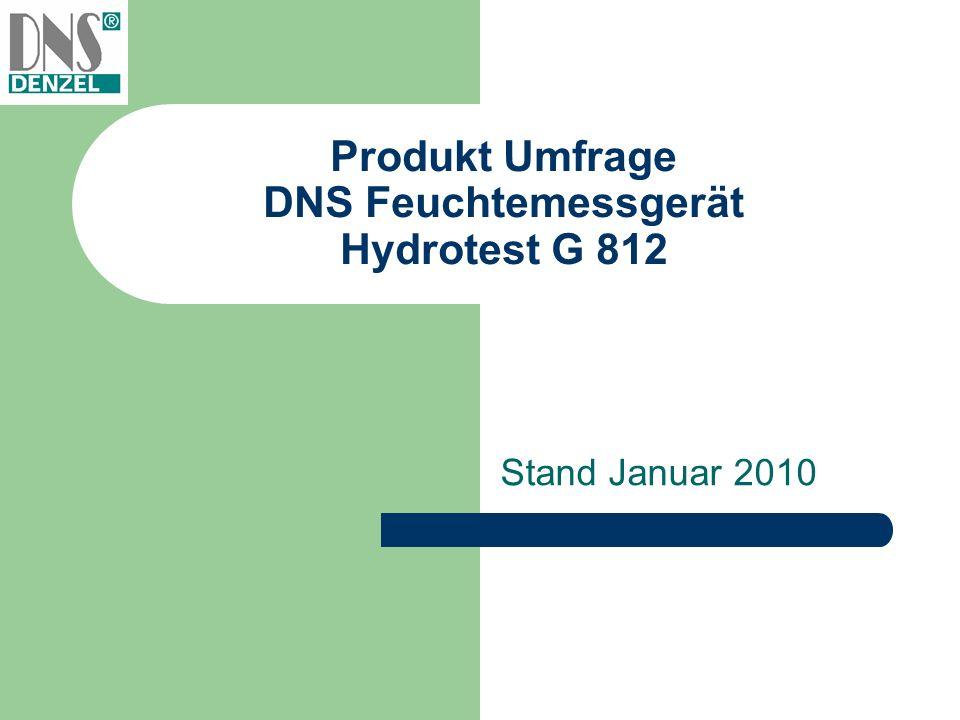 Produkt Umfrage DNS Feuchtemessgerät Hydrotest G 812