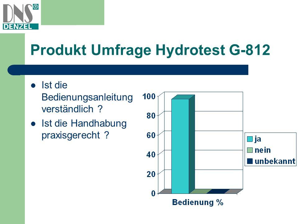 Produkt Umfrage Hydrotest G-812