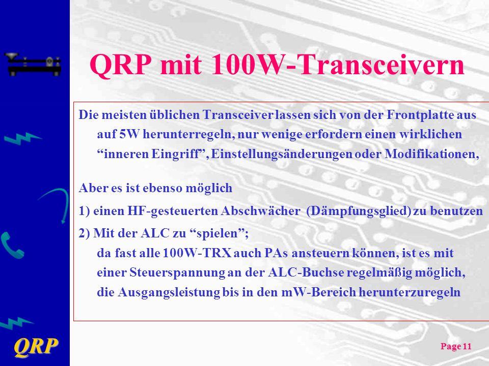 QRP mit 100W-Transceivern