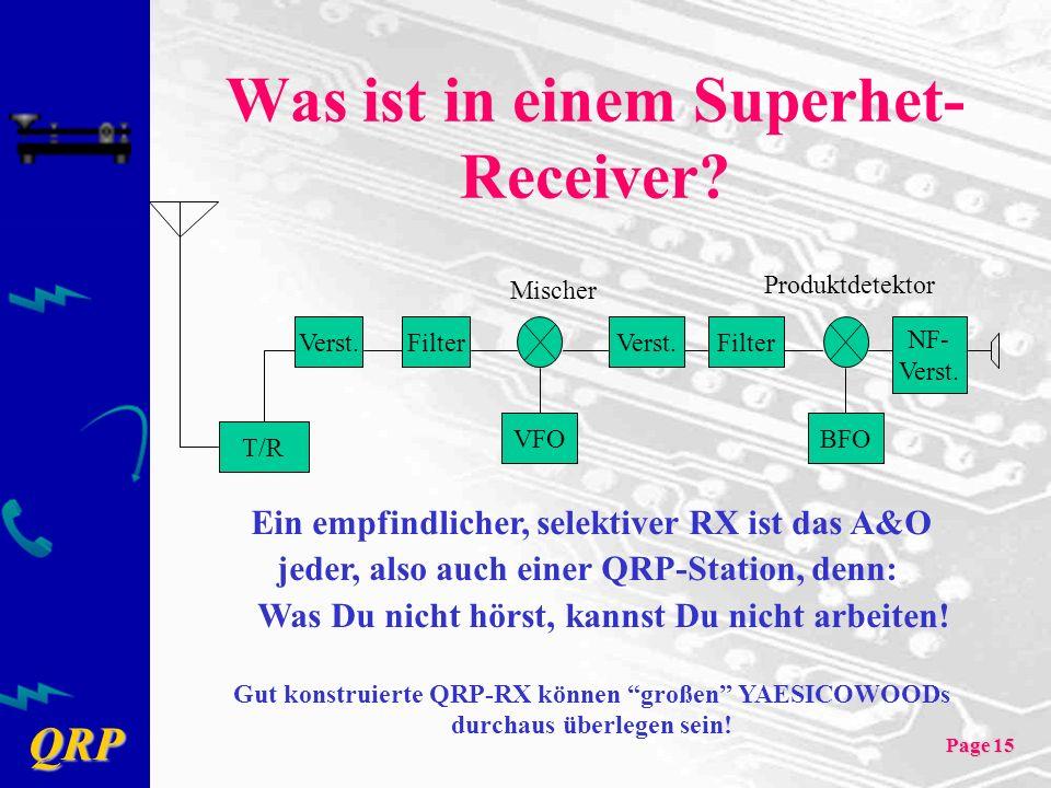 Was ist in einem Superhet- Receiver