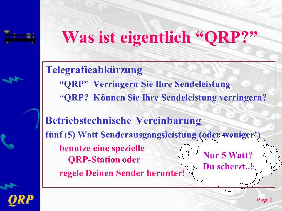 Was ist eigentlich QRP