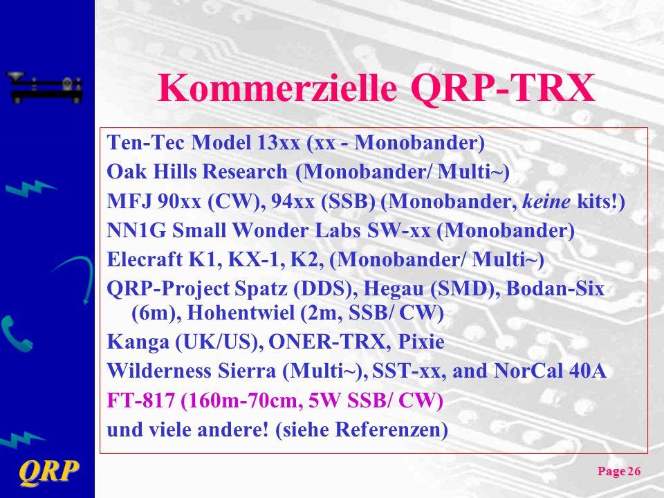 Kommerzielle QRP-TRX Ten-Tec Model 13xx (xx - Monobander)