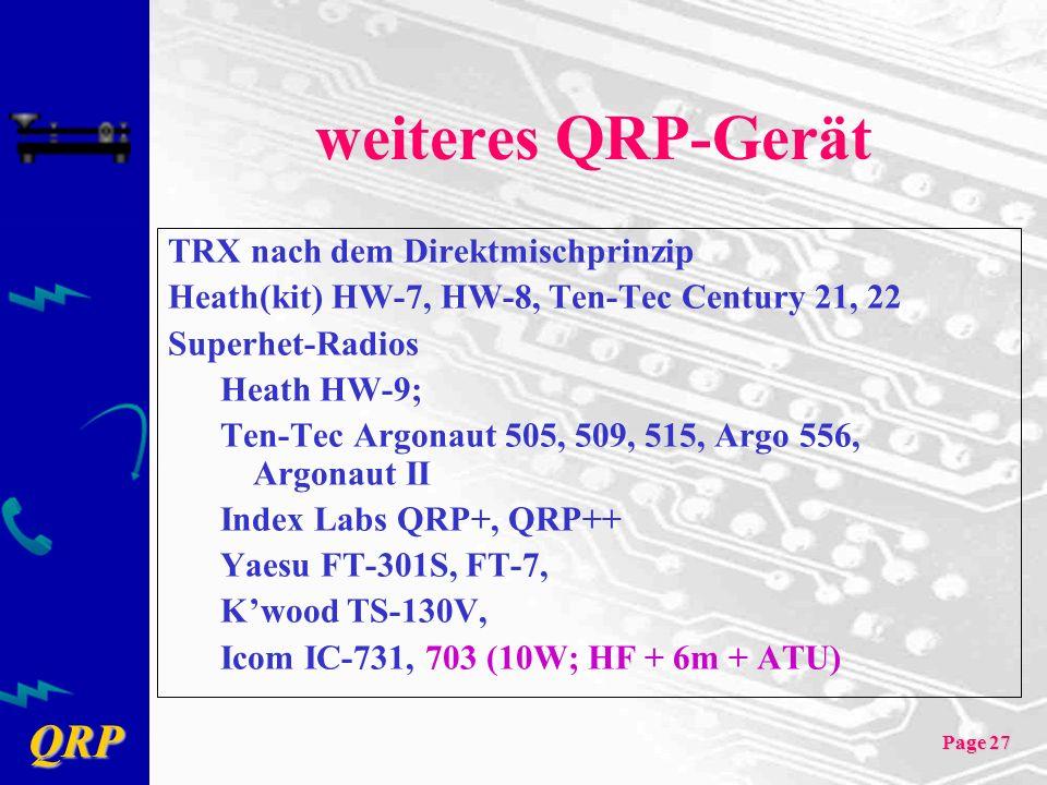 weiteres QRP-Gerät TRX nach dem Direktmischprinzip