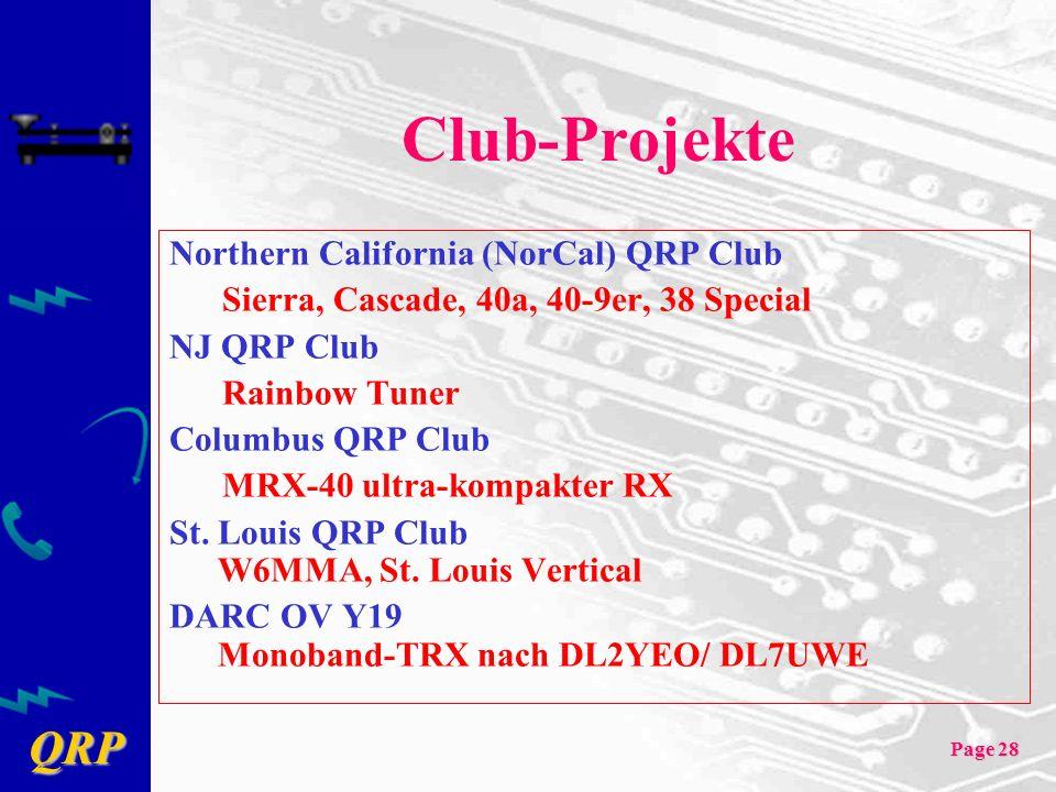 Club-Projekte Northern California (NorCal) QRP Club