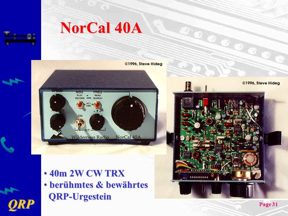 NorCal 40A 40m 2W CW TRX berühmtes & bewährtes QRP-Urgestein