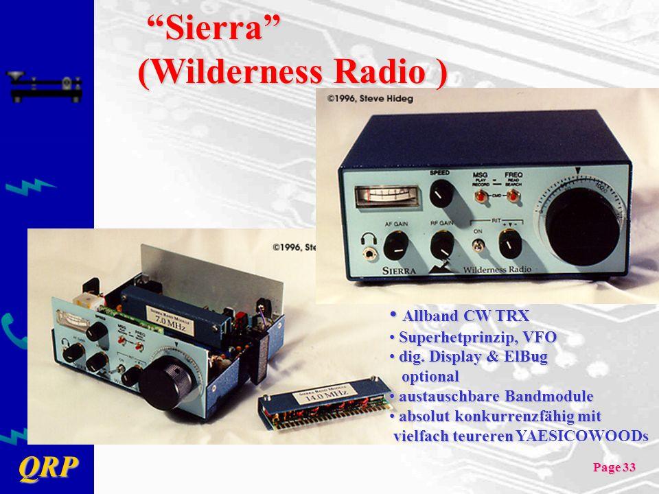 Sierra (Wilderness Radio ) Allband CW TRX Superhetprinzip, VFO