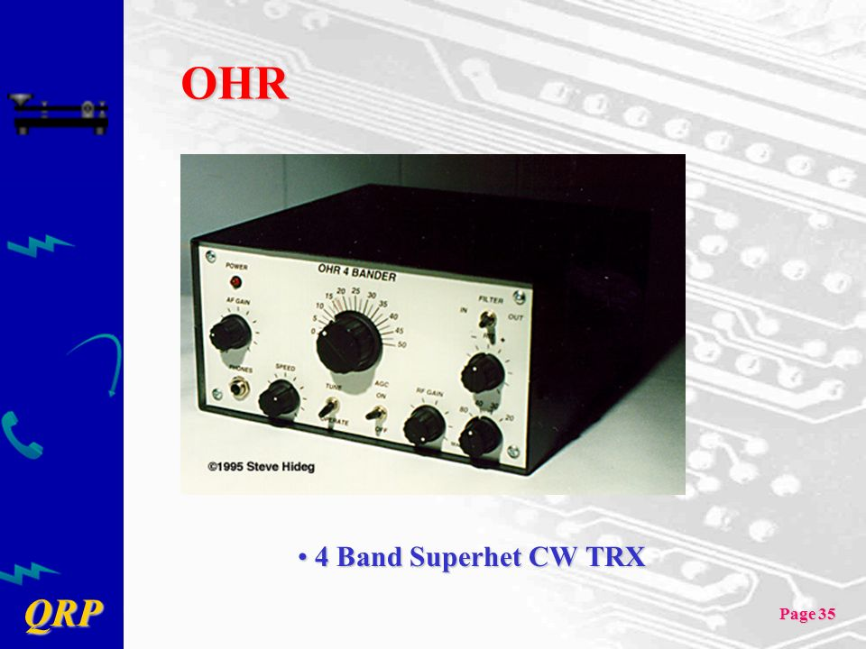 OHR 4 Band Superhet CW TRX
