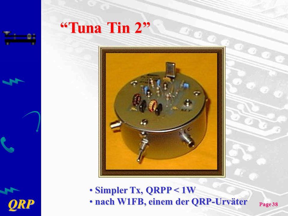 Tuna Tin 2 Simpler Tx, QRPP < 1W nach W1FB, einem der QRP-Urväter