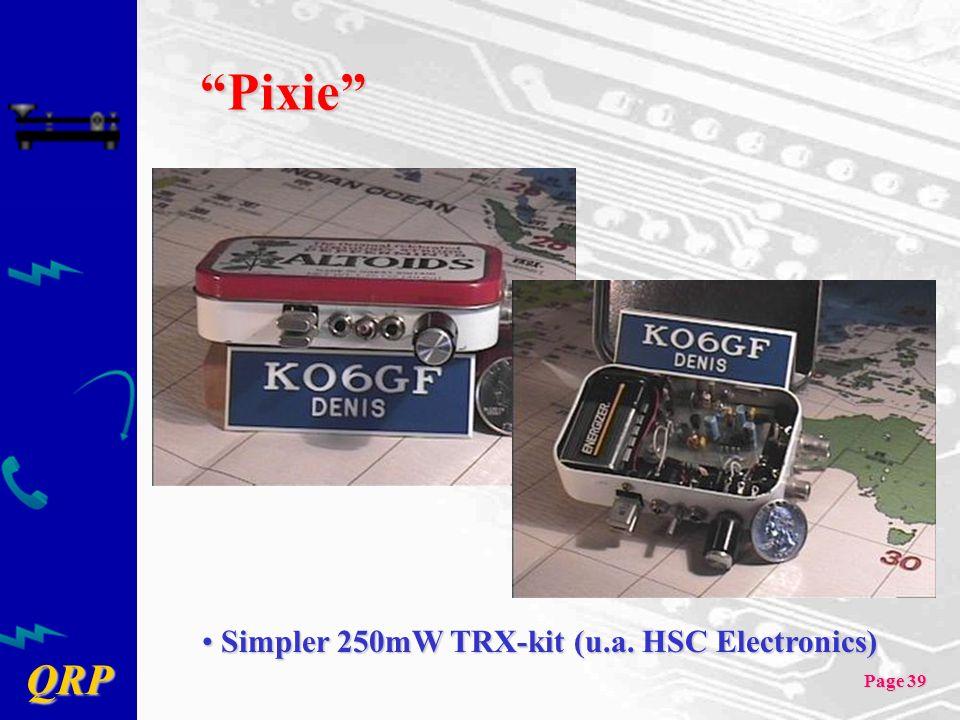 Pixie Simpler 250mW TRX-kit (u.a. HSC Electronics)