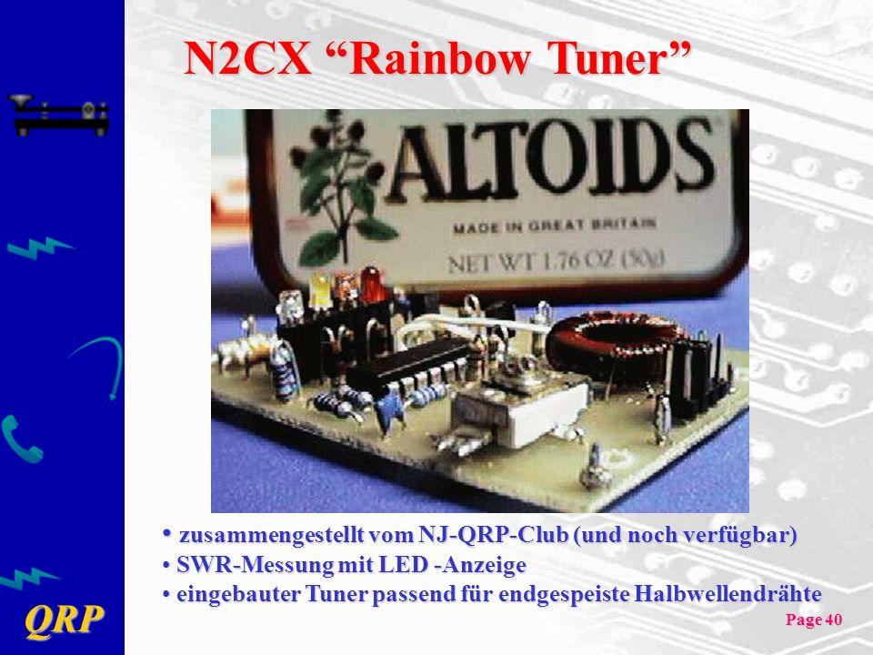 N2CX Rainbow Tuner zusammengestellt vom NJ-QRP-Club (und noch verfügbar) SWR-Messung mit LED -Anzeige.