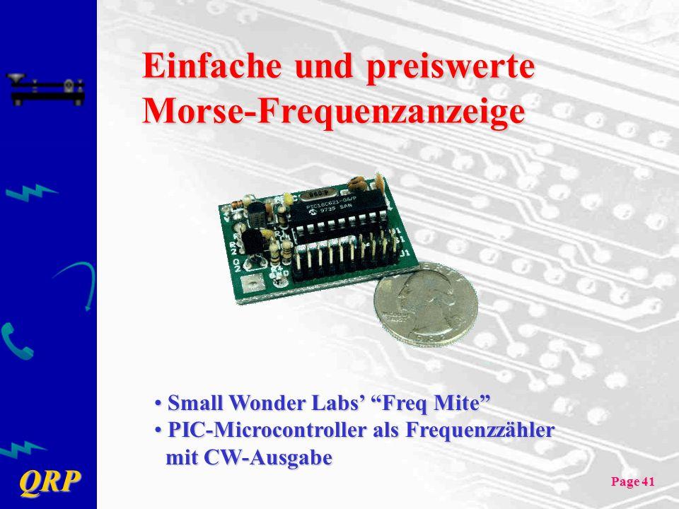 Einfache und preiswerte Morse-Frequenzanzeige