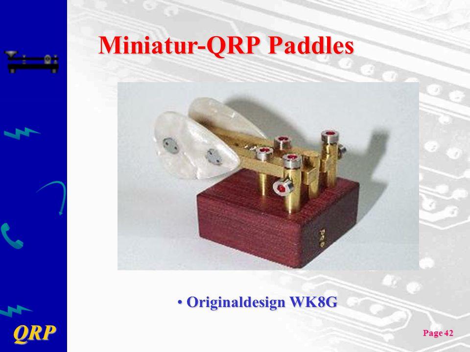 Miniatur-QRP Paddles Originaldesign WK8G