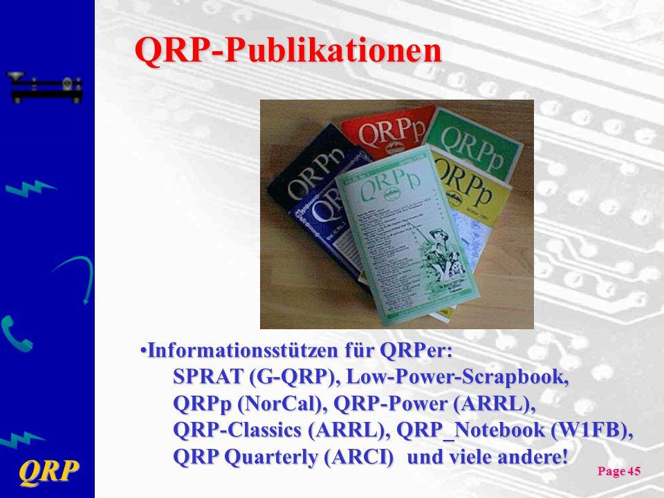 QRP-Publikationen Informationsstützen für QRPer: