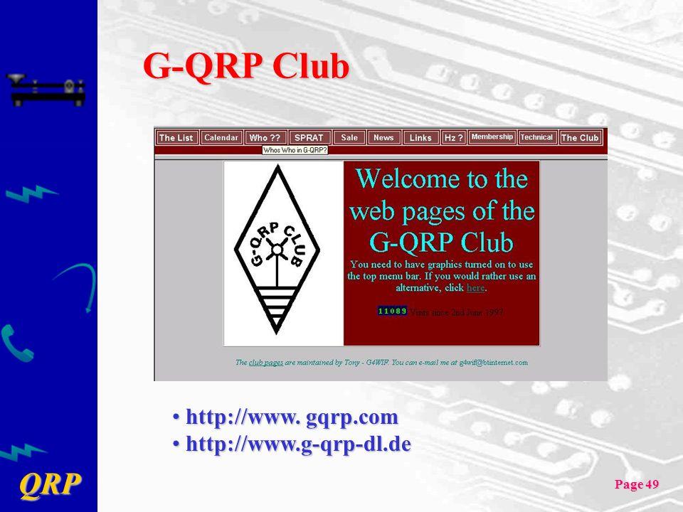 G-QRP Club http://www. gqrp.com http://www.g-qrp-dl.de