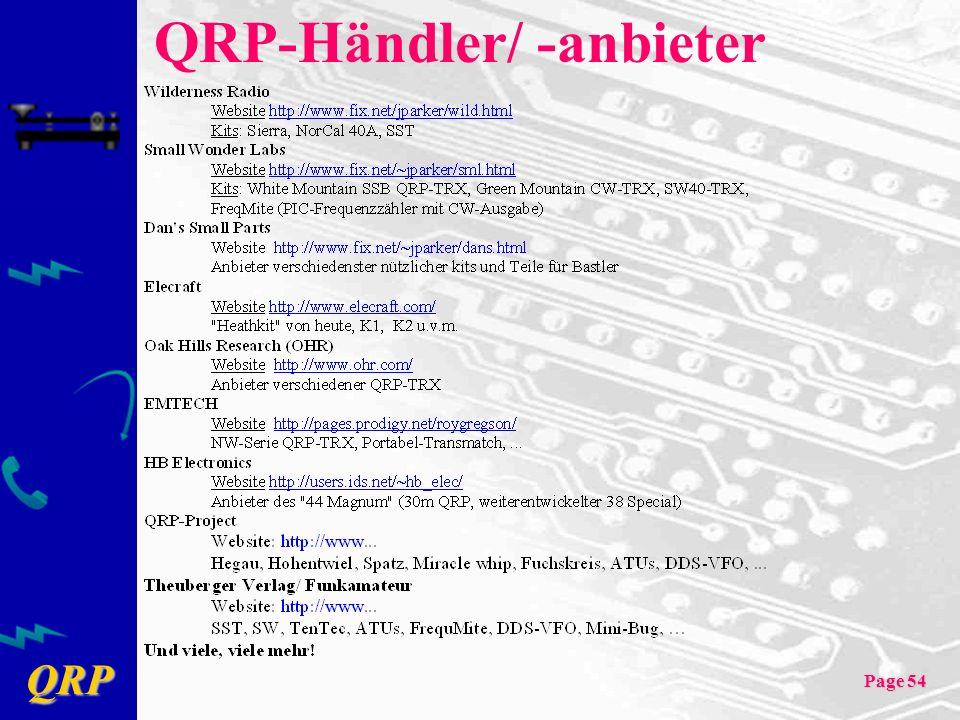 QRP-Händler/ -anbieter