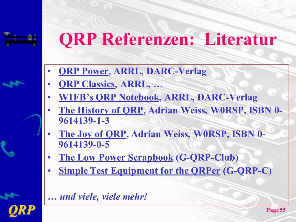 QRP Referenzen: Literatur