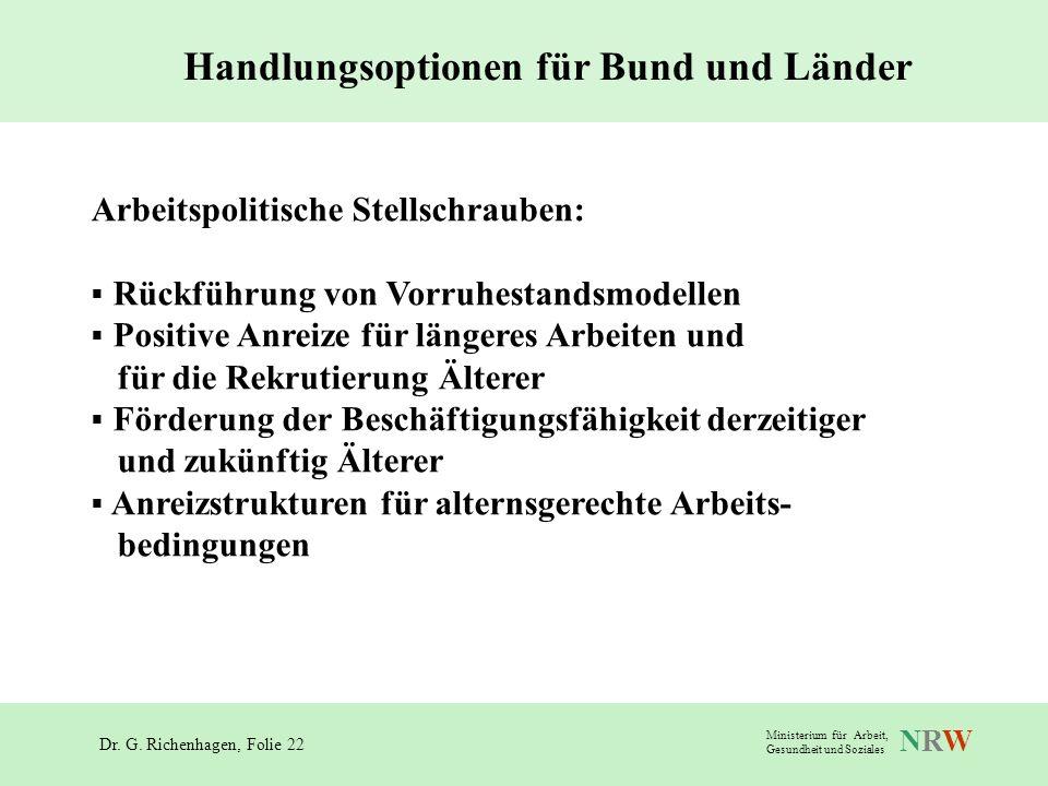 Handlungsoptionen für Bund und Länder