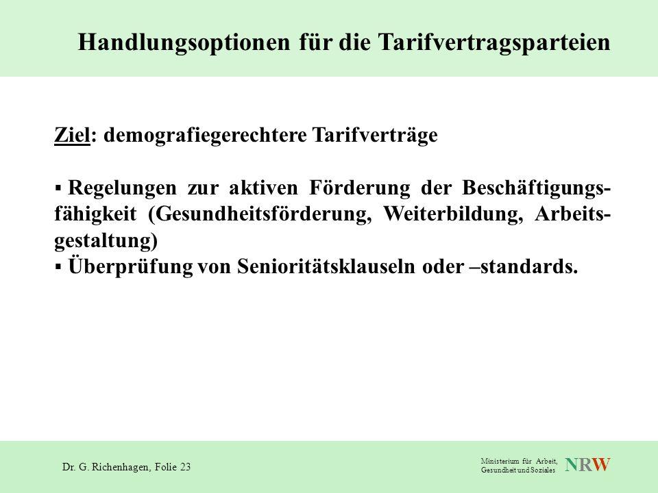 Handlungsoptionen für die Tarifvertragsparteien