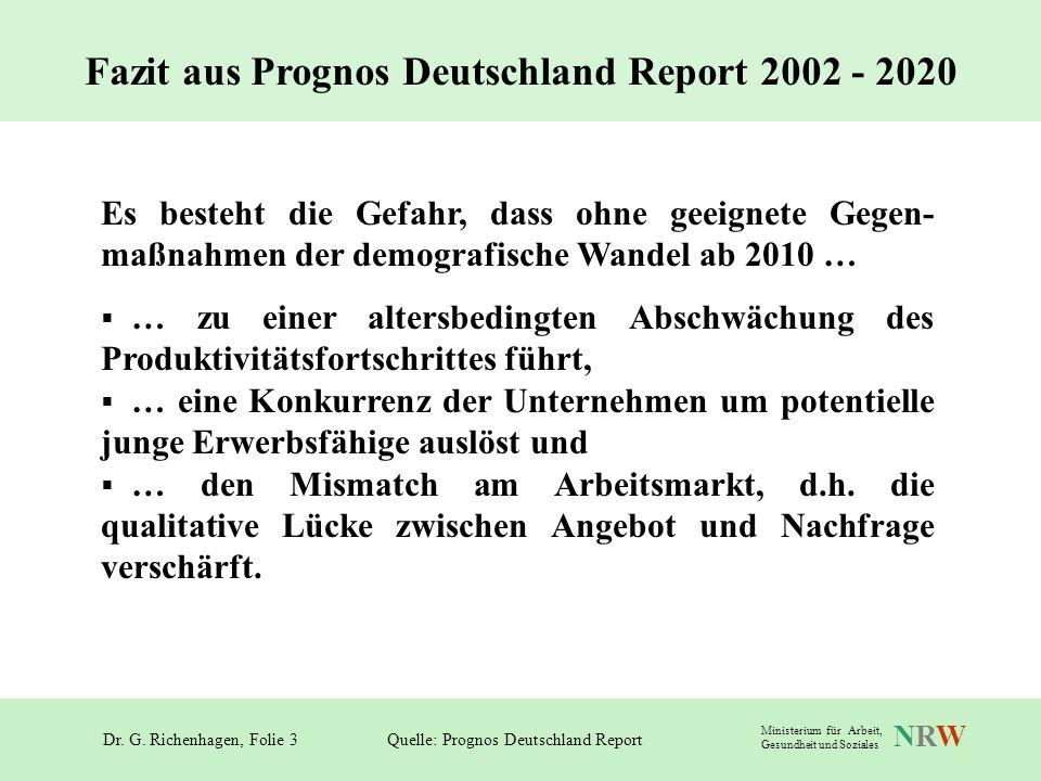 Fazit aus Prognos Deutschland Report 2002 - 2020