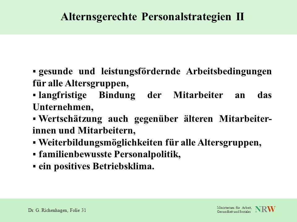 Alternsgerechte Personalstrategien II